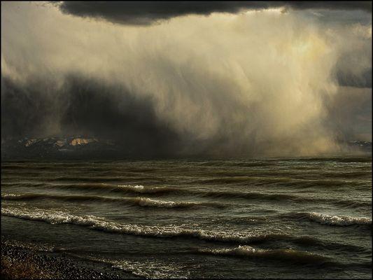 Sturm über dem Bodensee