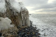 Sturm und Schnee auf Hiddensee