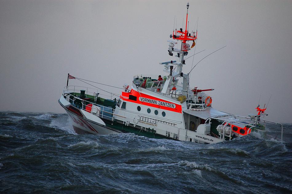 Sturm vor Cuxhaven