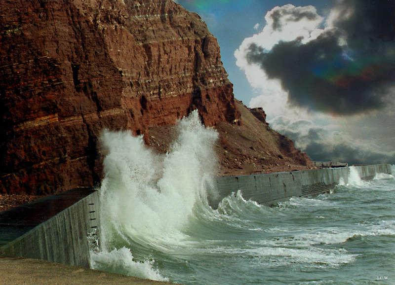 Sturm vor Helgoland