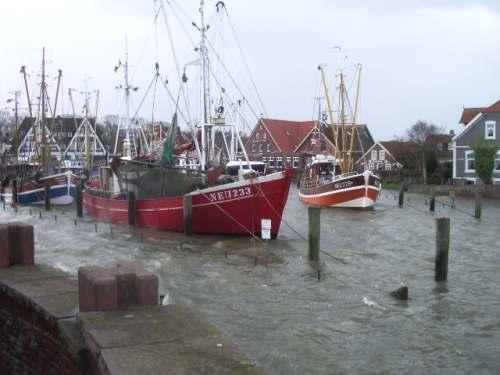 Sturmflut im Dorf