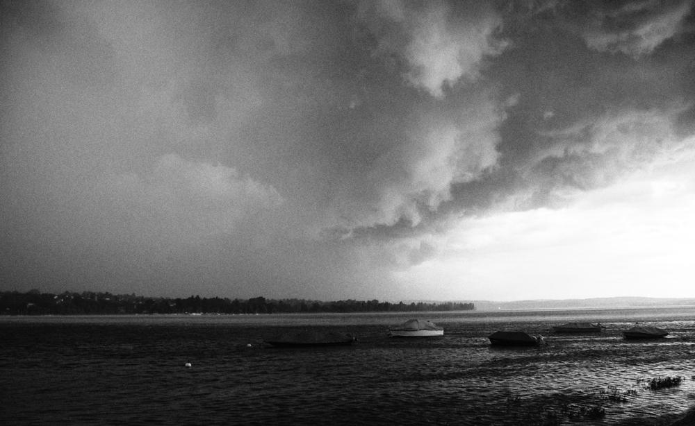 Sturmfront über dem Untersee