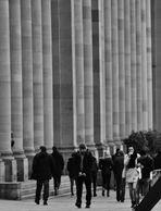 Stuttgart Ansichten von Menschen und Säulen