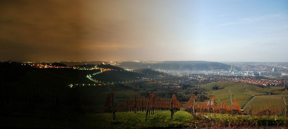 Stuttgart bei Tag und Nacht