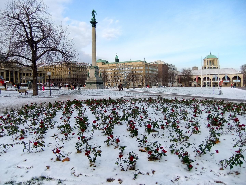 Stuttgart im Winter 1
