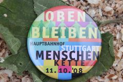 Stuttgart K21 Button  Okt. 2008 -wie K21 begann Ü1400K