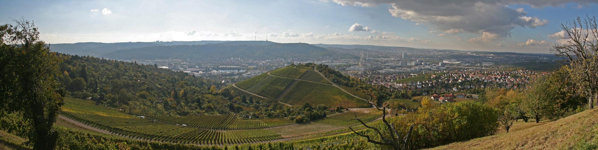 Stuttgart vom Rotenberg