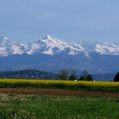 sublime vue des Pyrénées