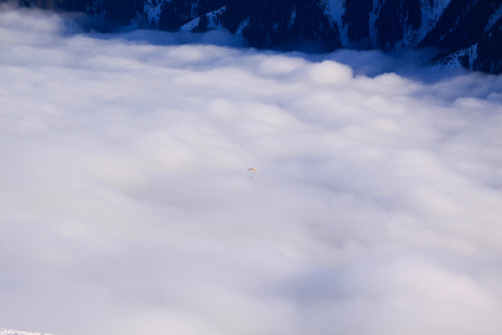 Suchspiel: Wer findet den Paraglider?