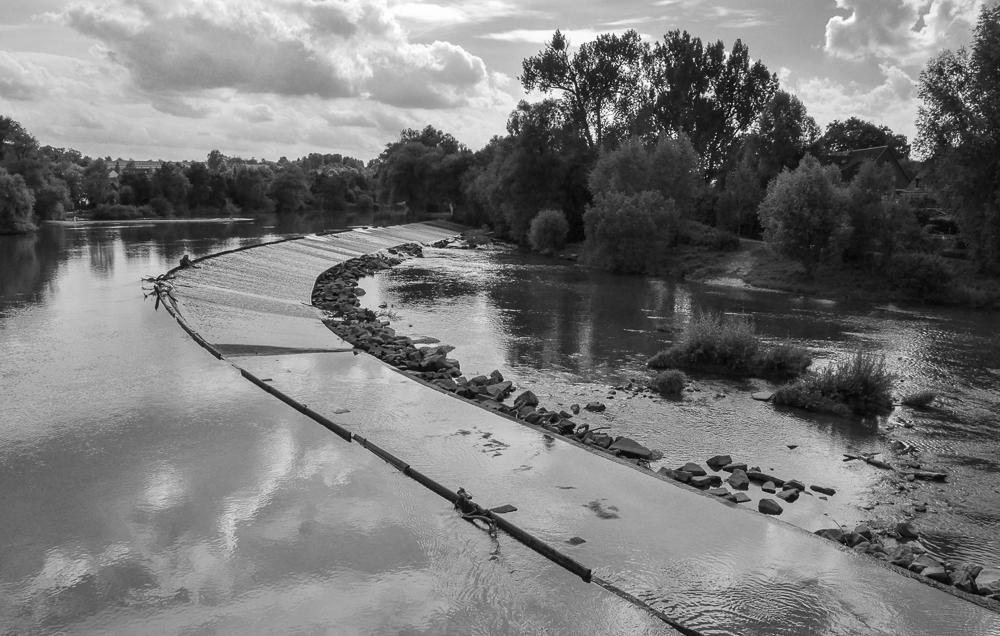 süddeutsche Flusslandschaft