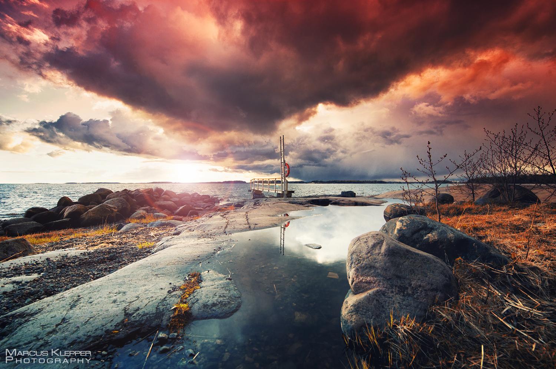 Südfinnland Sonnenuntergang