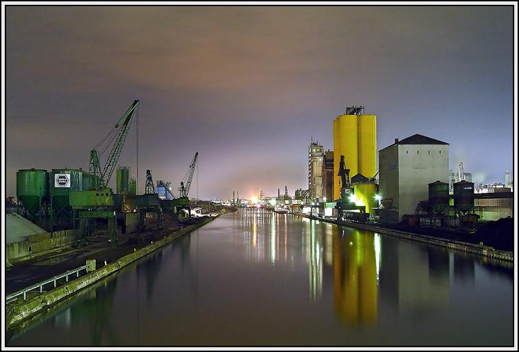 Südhafen Hamm bei Nacht