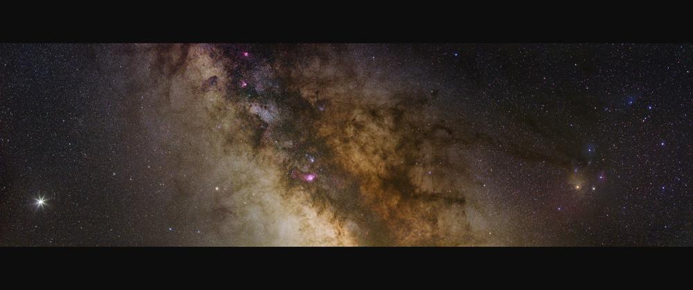 Südliche Milchstrasse mit Jupiter