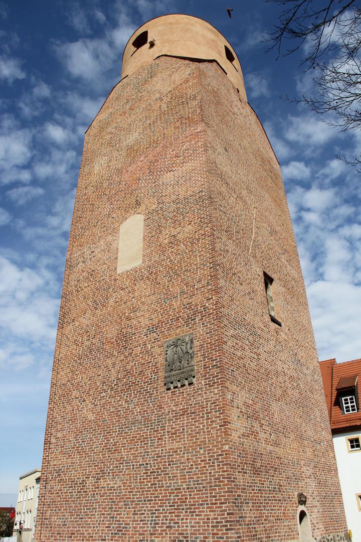 Südseite Lubwartturm Bad Liebenwerda mit Sonnenuhr