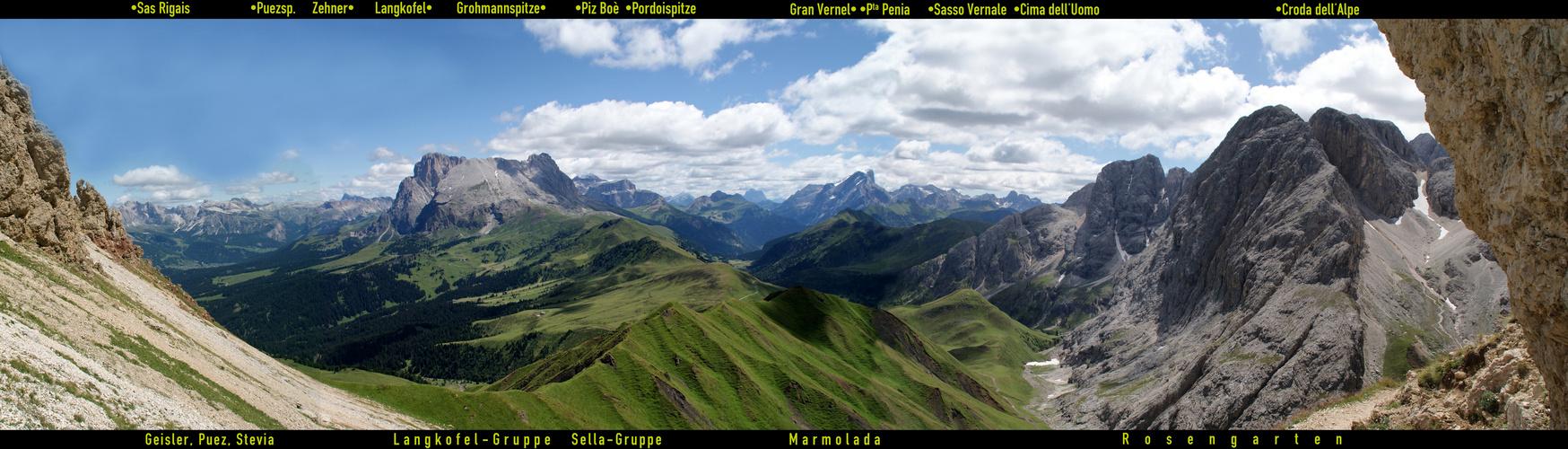 Südtirol: Langkofel-Blick …