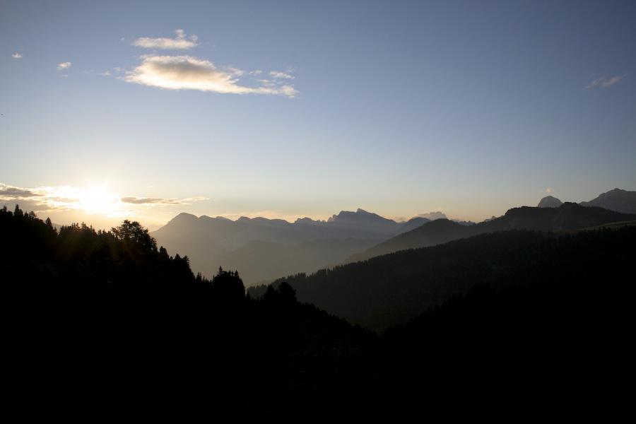 Südtiroler Sonnenaufgang