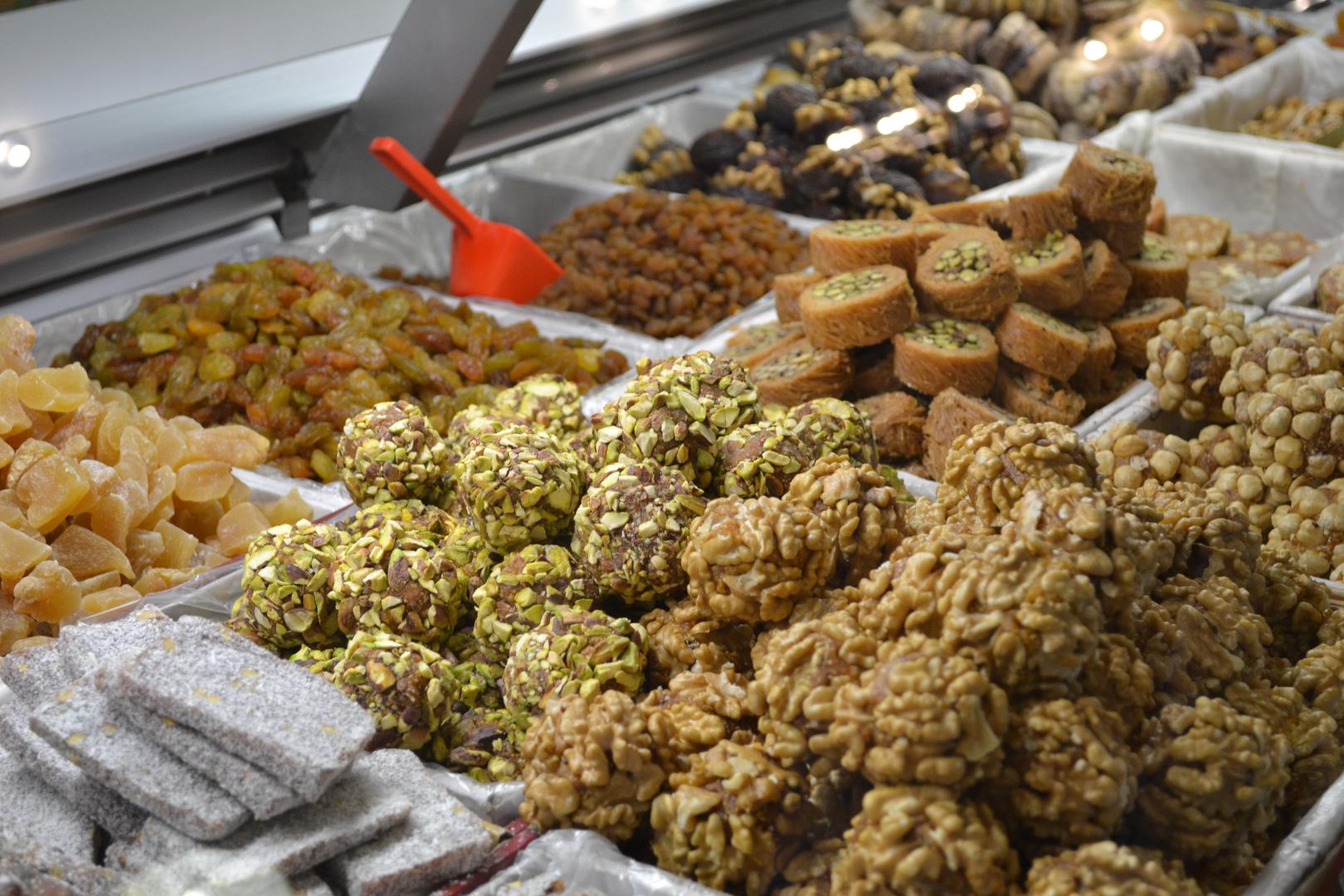 Süßes von der Kleinmarkthalle in Frankfurt