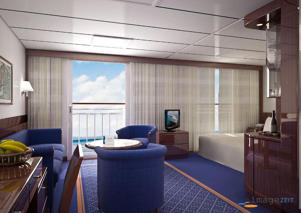 Suite-Kabine Kreuzfahrtschiff