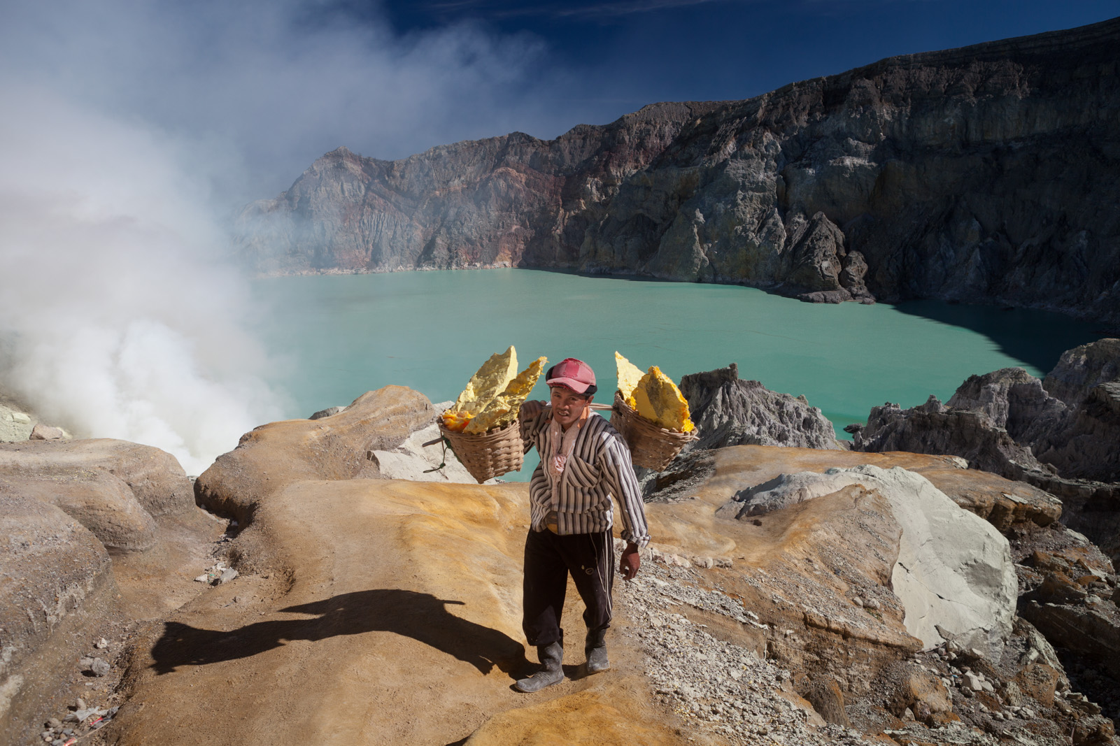 Sulfur worker, Ijen Crater, Banyuwangi, East Java