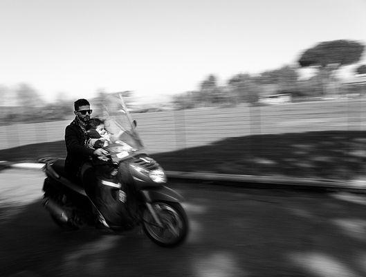 Sulla moto con papà