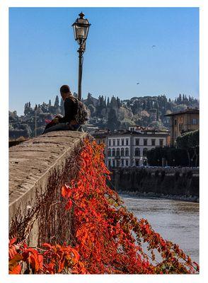 Sull'argine del Lungarno De' Medici