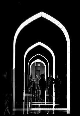 Sultan-Quaboos-Moschee Muscat/OIman (resubmit in b/w)