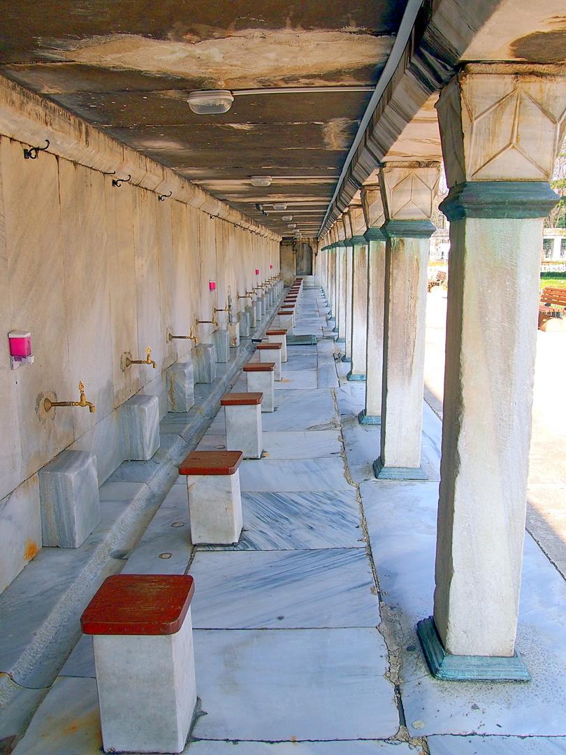 Sultanahmed Moschee Waschbereich