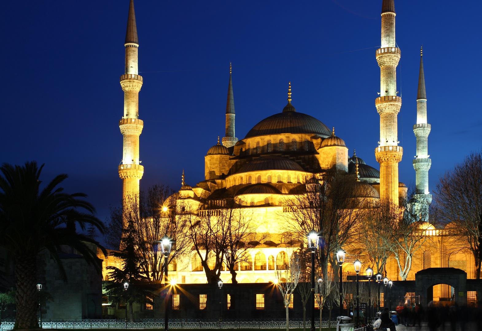 Sultanahmet-Moschee bei Nacht