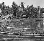 Sumatra, Sibolga, Fischersiedlung an der Westküste 1984