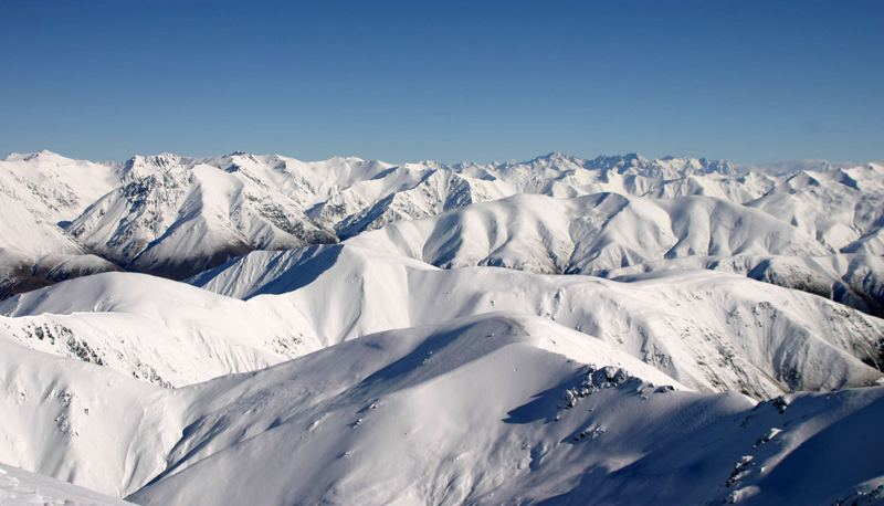 Summits of the Southern Alps, New Zealand