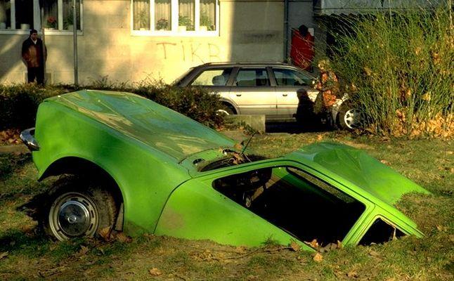 Sumpfiger Parkplatz?