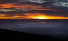 sun and fog over aldingen