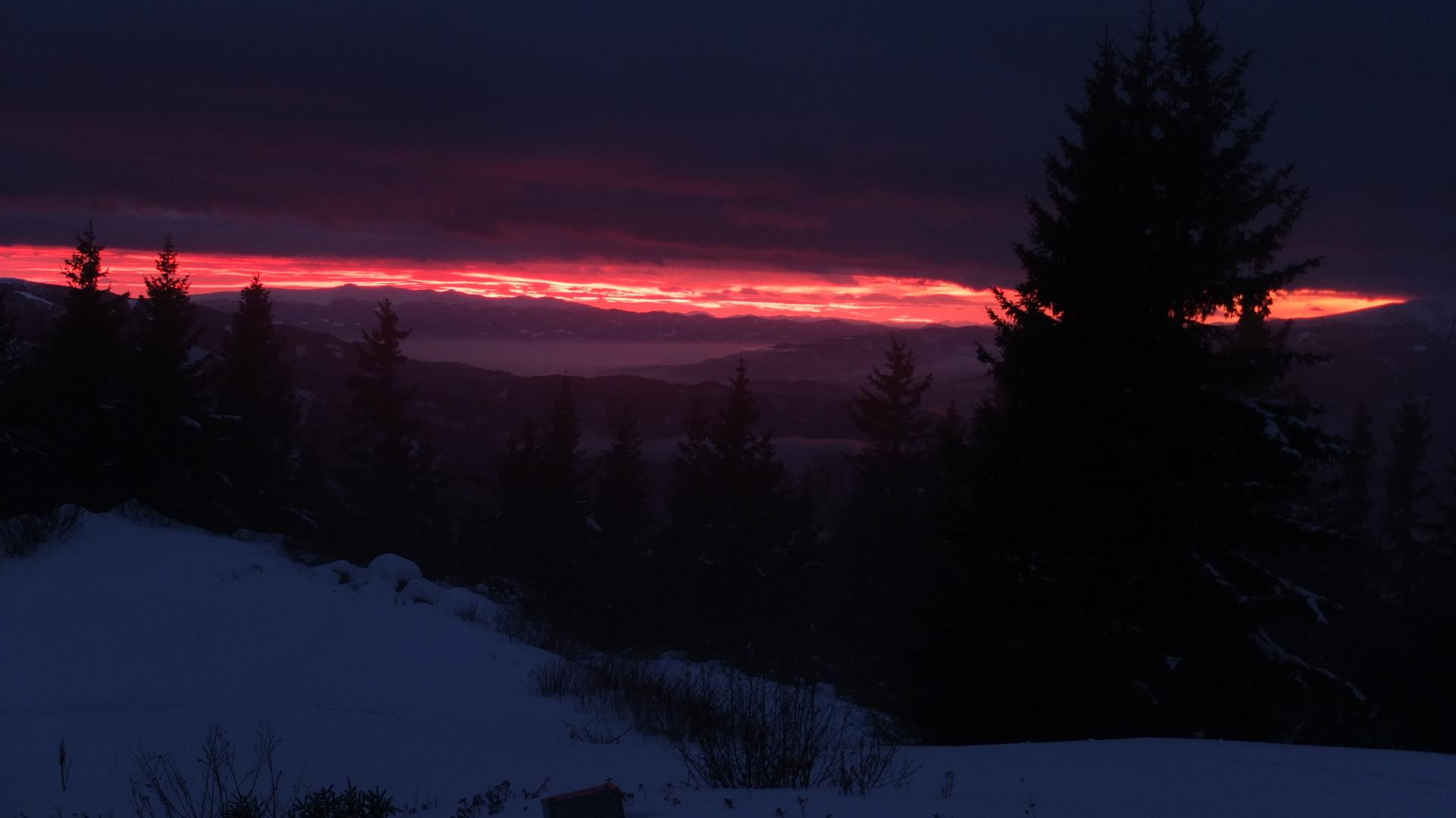 Sun down @ styria-mountains