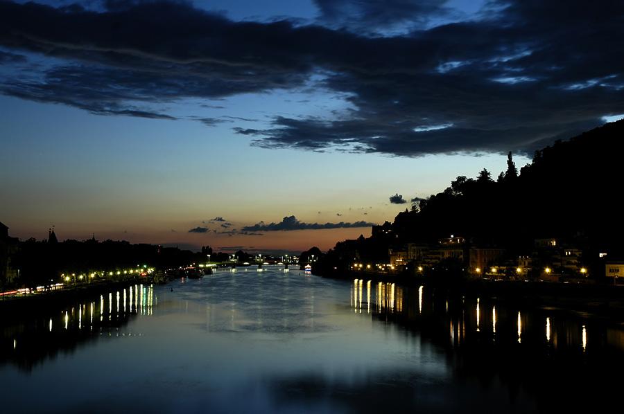 Sun goes down in Heidelberg