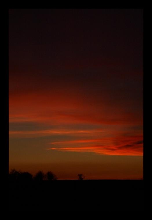 ...sun going down...