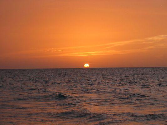 Sun going down over Cuba