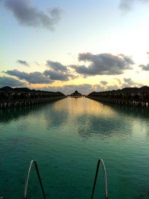 Sun island in Maldives