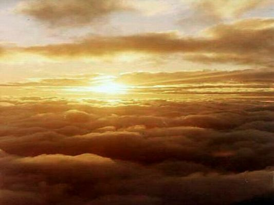 Sun over the clouds