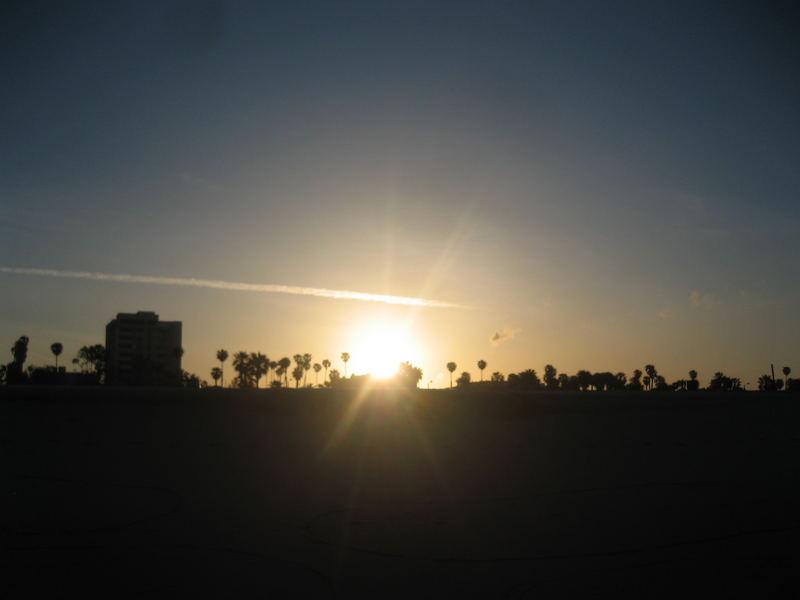 sun rise in santa monica