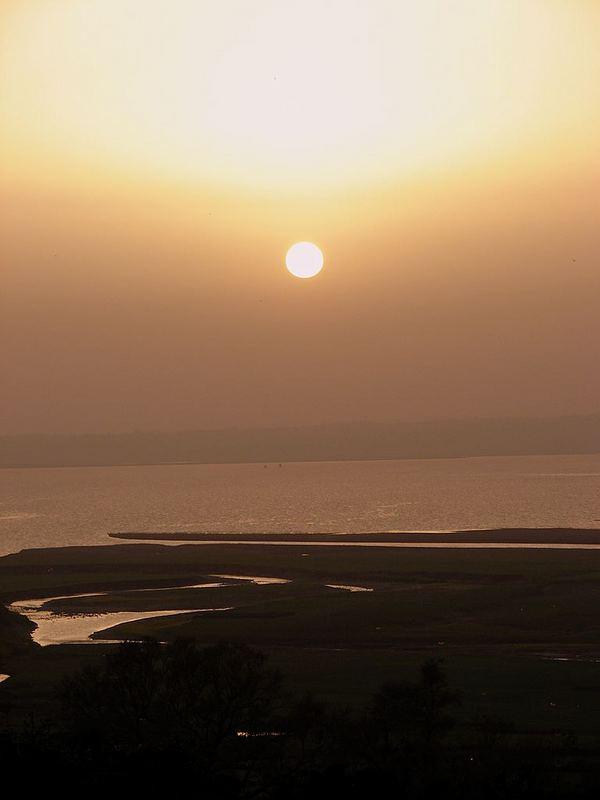 Sun set In Pongdam lake