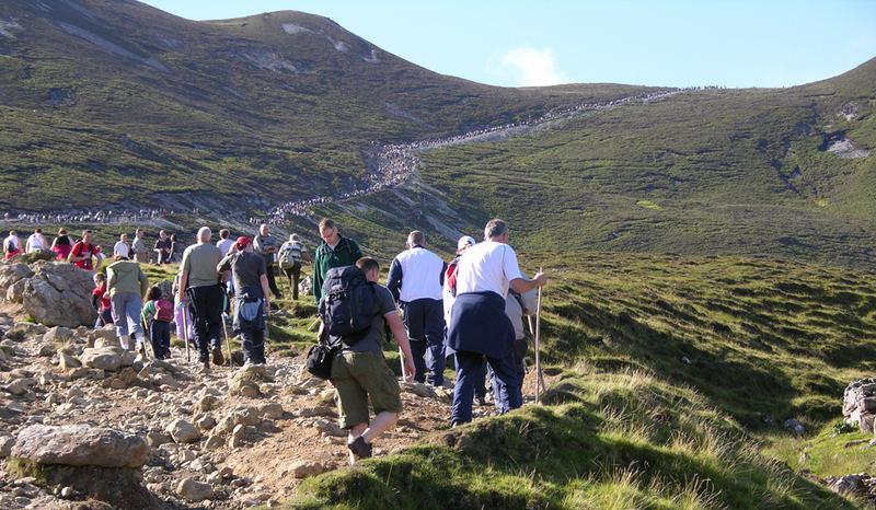 Sun shines for Reek Sunday pilgrims