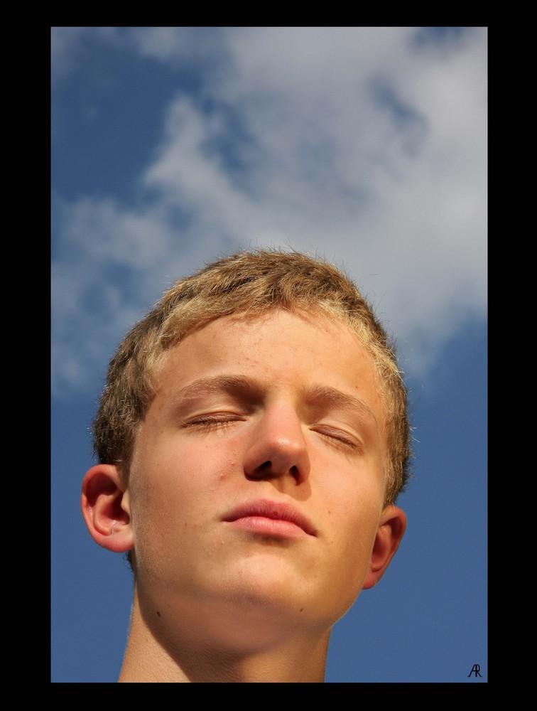- sun tanning -