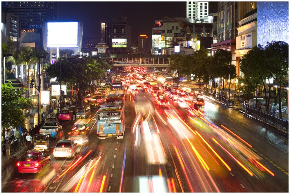 Sunday evening at Central World in Bangkok