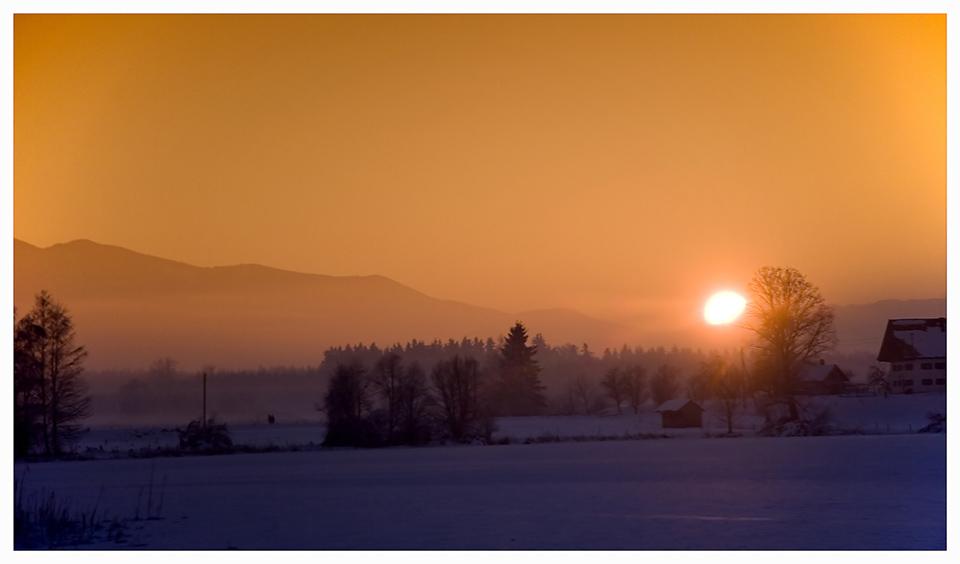 Sundown am Abtsdorfer See