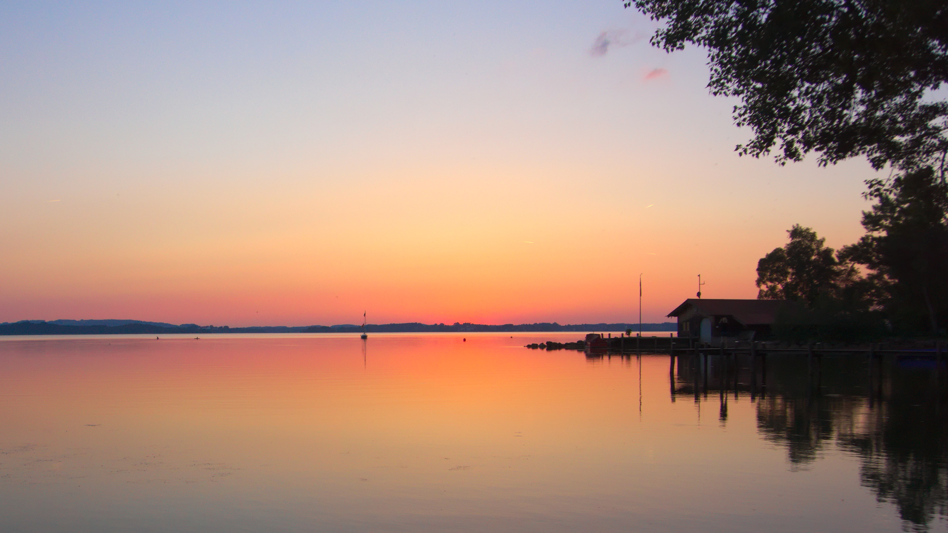 Sundown am Chiemsee