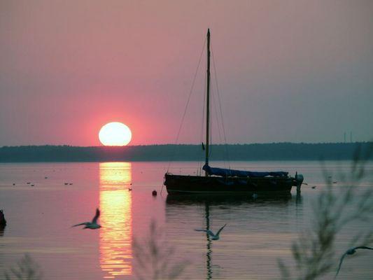Sundown am Steinhuder Meer