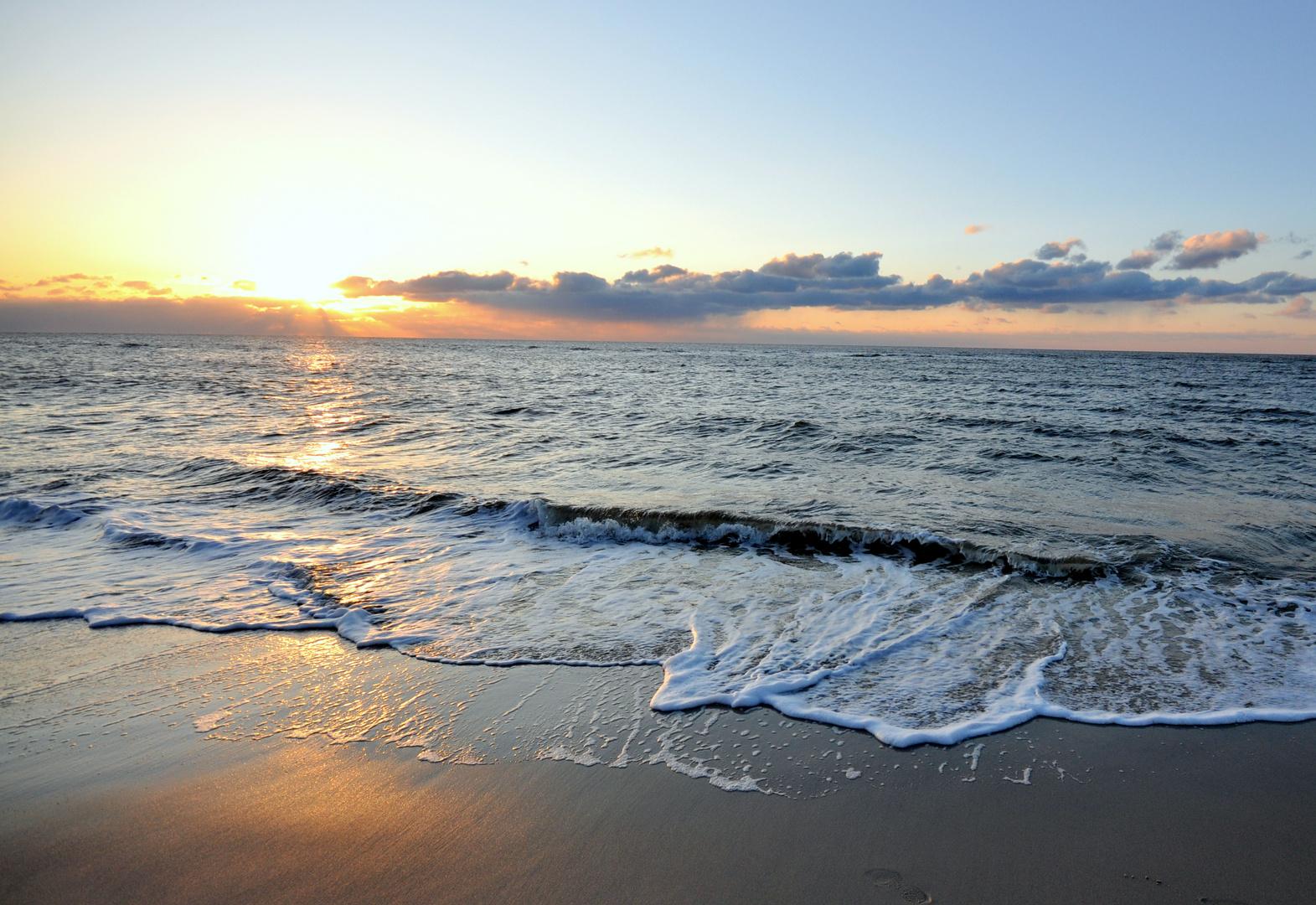 Sundown am Sylter Strand