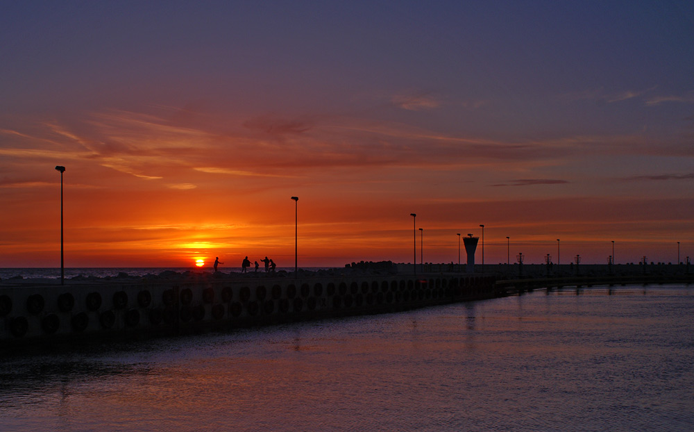 sundown at baltic sea