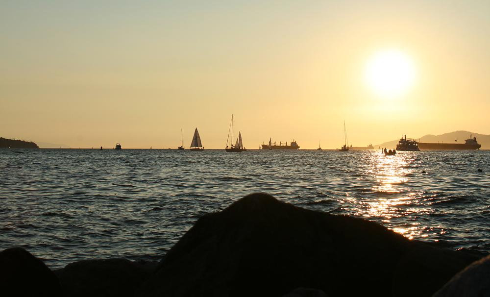 Sundown at English Bay I