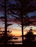 Sundown at Vancouver Island